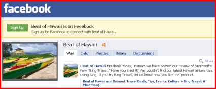 Join Beat of Hawaii On Facebook
