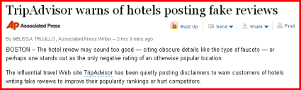 TripAdvisor Review Fraud Hits The Mainstream