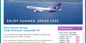 $380 RT All Summer: Pacific Northwest To Neighbor Islands