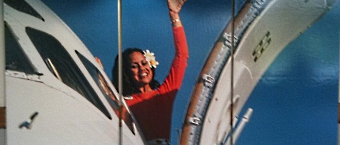 Vintage Hawaii Flight Attendant
