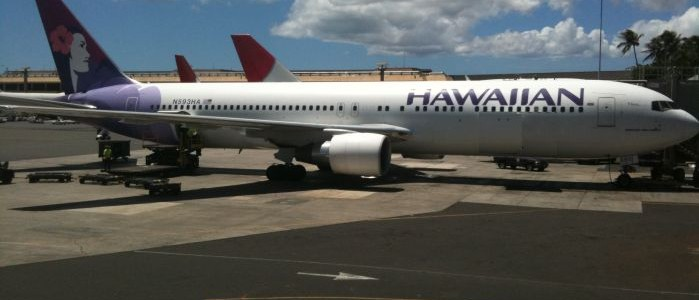 Hawaiian Airlines planes at HNL