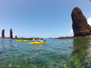 Kayaking at Five Sisters on Lanai