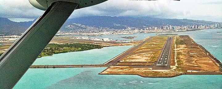 Honolulu Airport reef runway