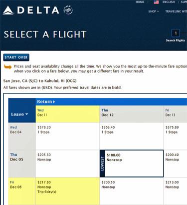 delta airlines hawaii