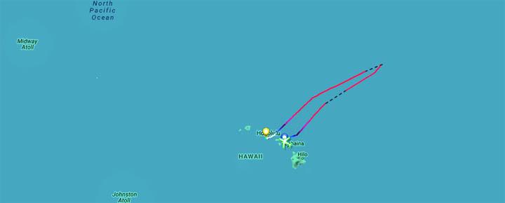 Hawaiian Airlines Flight Diversion