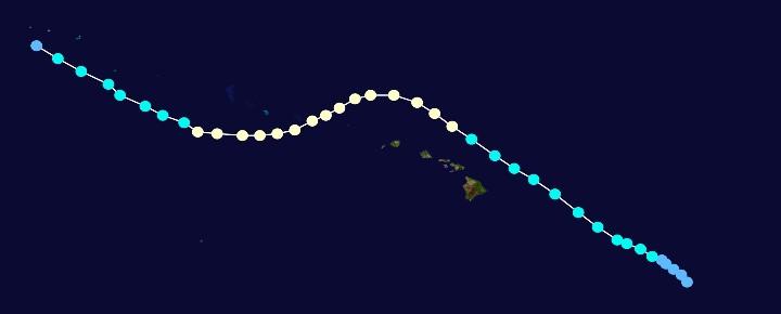Hawaii hurricane Hiki